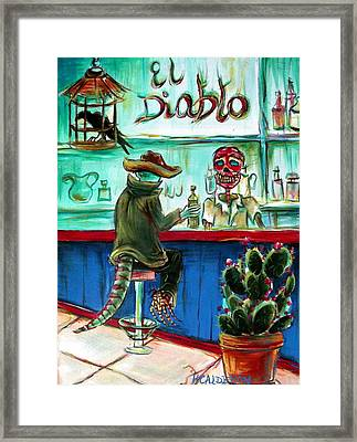 El Diablo Framed Print by Heather Calderon