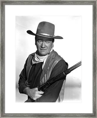 El Dorado, John Wayne,  1966 Framed Print by Everett