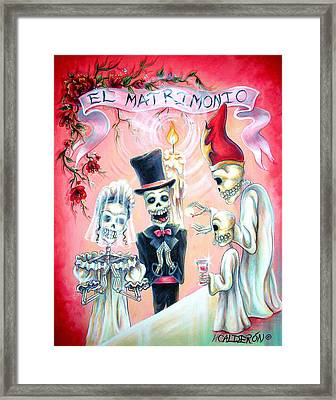 El Matrimonio Framed Print by Heather Calderon