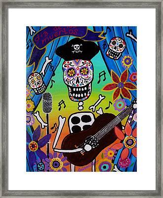 El Musikero Framed Print by Pristine Cartera Turkus