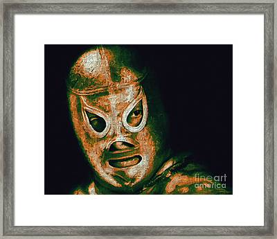 El Santo The Masked Wrestler 20130218 Framed Print by Wingsdomain Art and Photography
