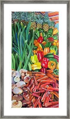 El Valle Market Framed Print by Marilyn McNish