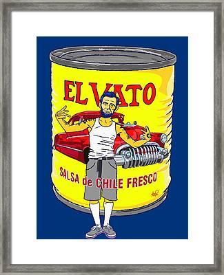El Vato - Abe Framed Print by Armando Padilla