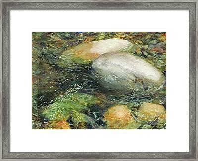 Elbow River Rocks 2 Framed Print by Madeleine Arnett