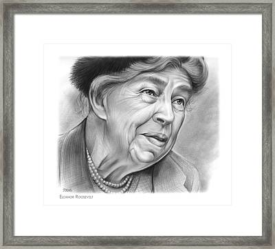 Eleanor Roosevelt Framed Print by Greg Joens