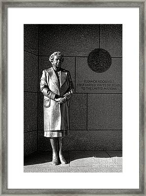 Eleanor Roosevelt Sculpture  Framed Print by Olivier Le Queinec