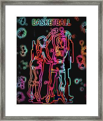 Electric Basketball Poster Framed Print by Dan Sproul