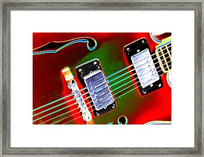 Electric Guitar Framed Print by Peter  McIntosh