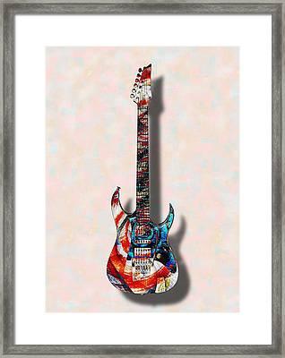 Electric Guitar - Psychobilly - Musical Instruments Framed Print by Anastasiya Malakhova
