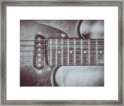 Electric Guitar Framed Print by Scott Norris