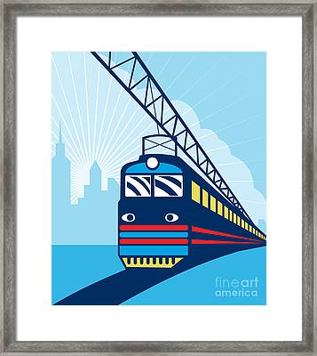 Electric Passenger Train Framed Print by Aloysius Patrimonio