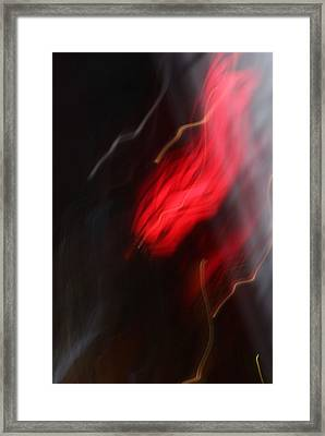 Electric Red And Yellow Framed Print by Karin Kohlmeier