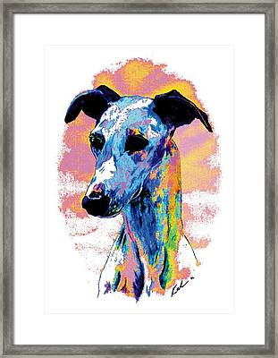 Electric Whippet Framed Print by Kathleen Sepulveda