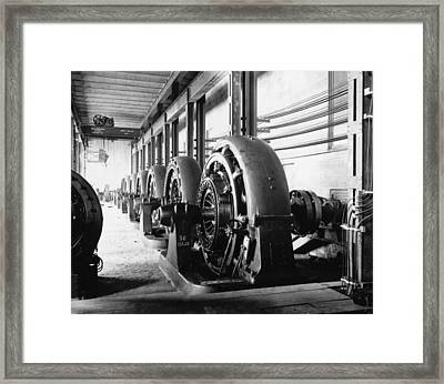 Electrical Generators In Edison Sault Framed Print by Everett