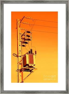 Electricity Framed Print by Gaspar Avila