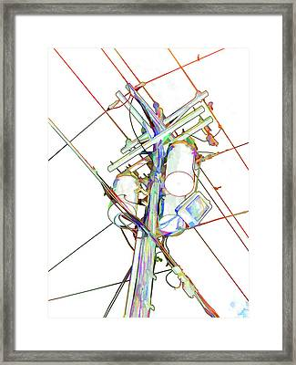 Electricity Post  Framed Print by Lanjee Chee