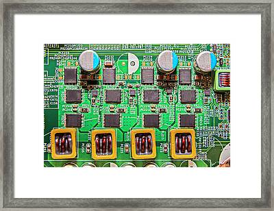 Electronic Framed Print by Rick Deacon