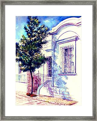 Elegance And Modesty Framed Print by Estela Robles