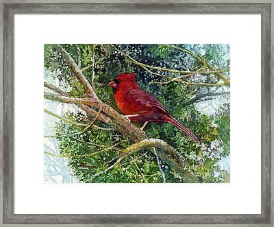 Elegance In Red Framed Print by Hailey E Herrera