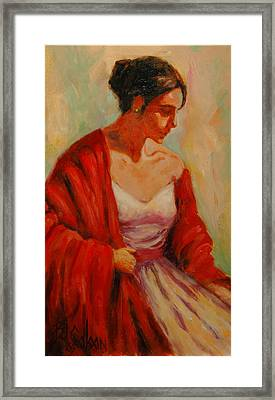 Elegant Lady Framed Print by Billie Colson
