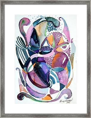 Elegant Lunacy Framed Print by Mindy Newman