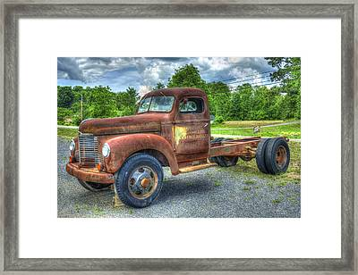 Elegant Rust 1947 International Harvester K B 5 Truck Framed Print by Reid Callaway