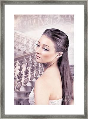 Elegant Woman Framed Print by Amanda And Christopher Elwell