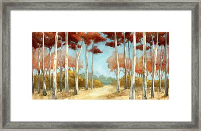 Elegantredforest Framed Print by Mauro DeVereaux