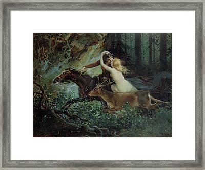 Elegy Of Bohemia Framed Print by Adolf Liebscher