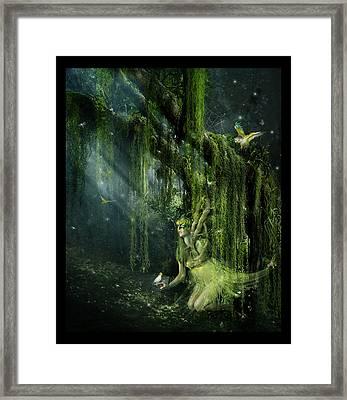 Elemental Earth Framed Print by Mary Hood