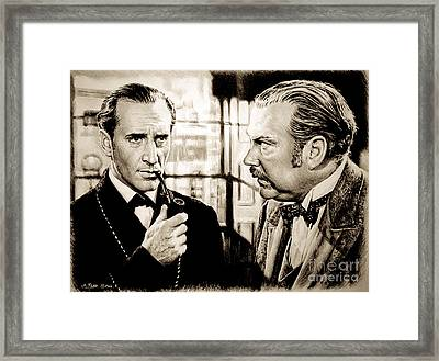 Elementary My Dear Watson  Sepia Ver Framed Print by Andrew Read