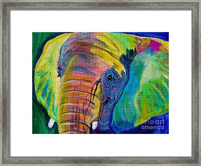 Elephant - Pachyderm Framed Print by Alicia VanNoy Call