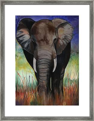 Elephant Framed Print by Anthony Burks Sr