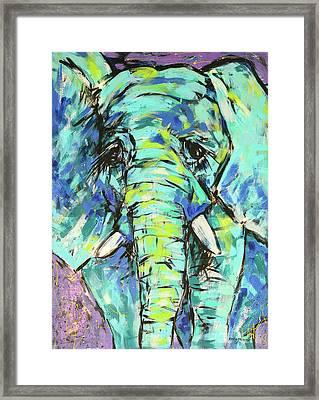 Elephant Framed Print by Arrin Burgand