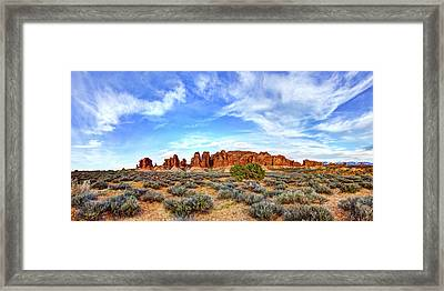 Elephant Butte Framed Print by Chad Dutson