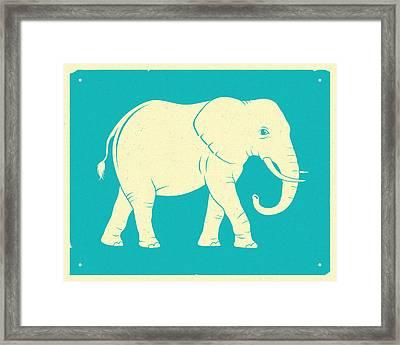 Elephant  Framed Print by Jazzberry Blue