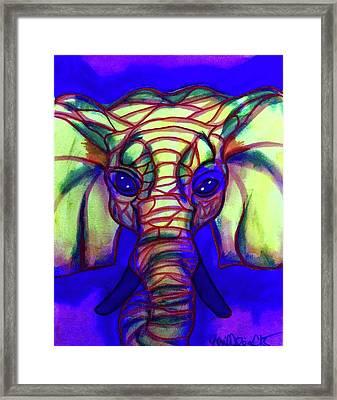 Elephant Framed Print by Lori Teich