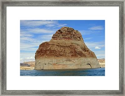 Elephant Rock Lake Powell Framed Print by Chuck Wedemeier