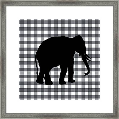 Elephant Silhouette Framed Print by Linda Woods