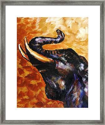 Elephant Song Framed Print by Jai Johnson
