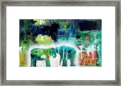 Elephants 2 Framed Print by Jenn Ashton