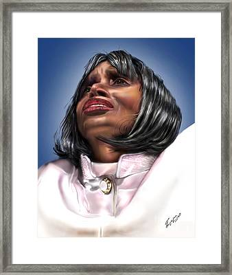 Elevated In His Glory Framed Print by Reggie Duffie