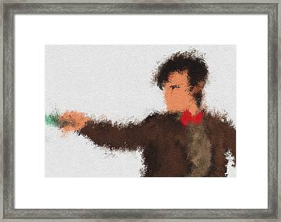 Eleventh Doctor Framed Print by Miranda Sether