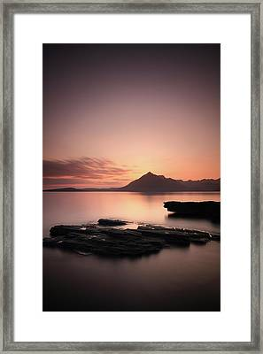Elgol Sunset Afterglow Framed Print by Grant Glendinning