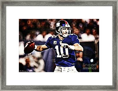 Eli Manning Framed Print by The DigArtisT