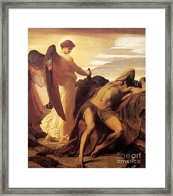 Elijah In The Wilderness Framed Print by Celestial Images
