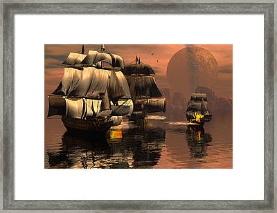 Eliminating The Pirates Framed Print by Claude McCoy