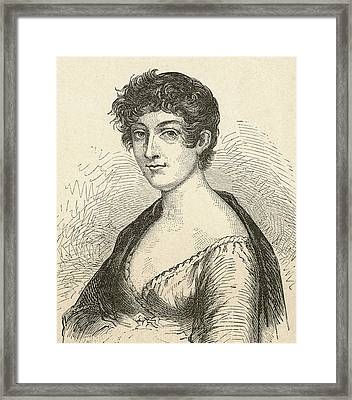Elisabeth Charlotte Pauline De Meulan Framed Print by Vintage Design Pics