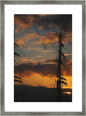Elissa Sunset Framed Print by Wally Boggus