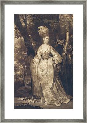 Elizabeth Duchess Of Hamilton Brandon And Argyll Framed Print by John Finlayson